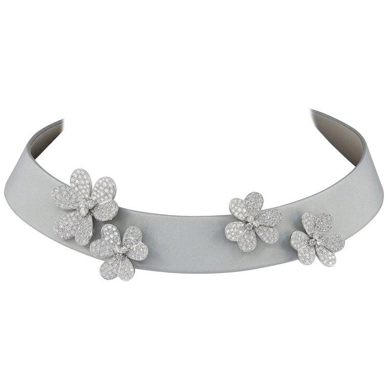 Van Cleef & Arpels Frivole Diamond Collar Necklace For Sale