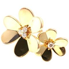 Van Cleef & Arpels Frivole Diamond Gold Between the Finger Flower Ring