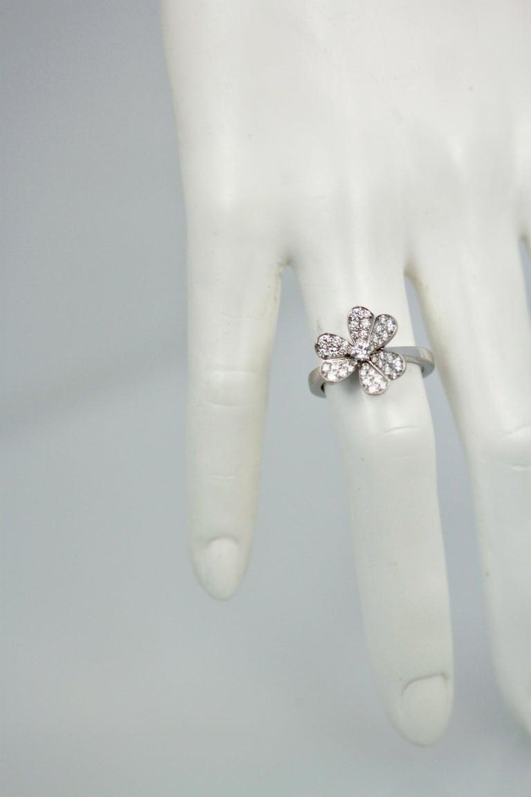 Van Cleef & Arpels Frivole Diamond Ring For Sale 4