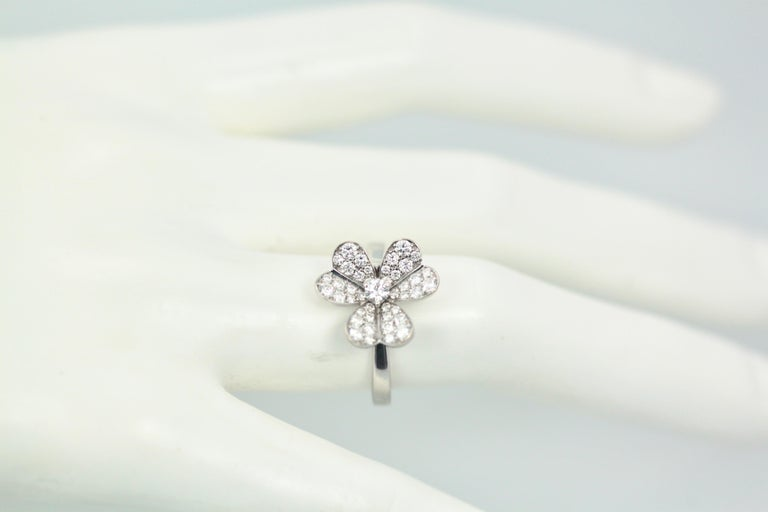 Van Cleef & Arpels Frivole Diamond Ring For Sale 6