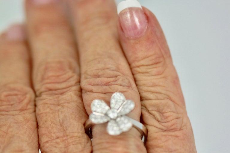 Women's Van Cleef & Arpels Frivole Diamond Ring For Sale