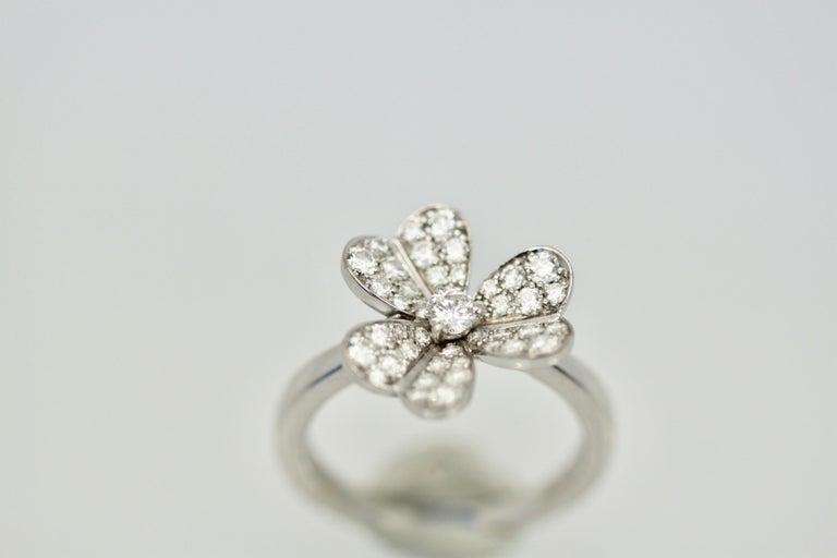 Van Cleef & Arpels Frivole Diamond Ring For Sale 1