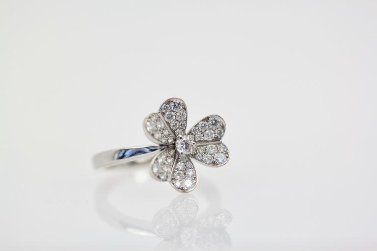 Van Cleef & Arpels Frivole Diamond Ring For Sale 2