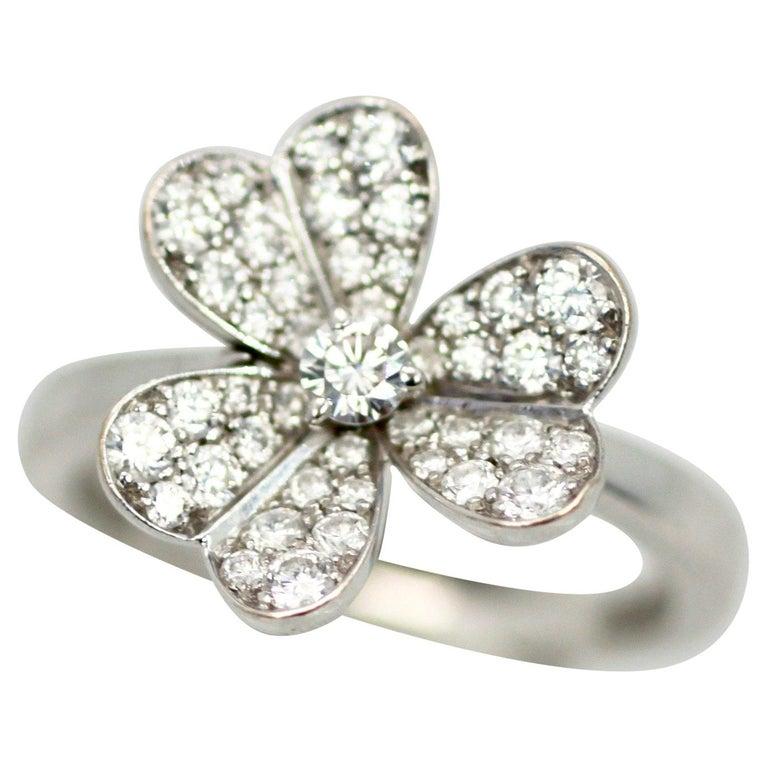 Van Cleef & Arpels Frivole Diamond Ring For Sale