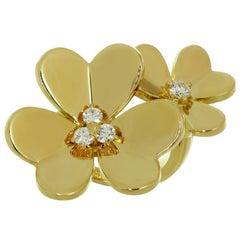 Van Cleef & Arpels Frivole Diamond Yellow Gold Between the Finger Flower Ring