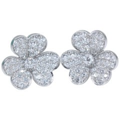 Van Cleef & Arpels Frivole Earrings, Small Model White Gold, Diamond