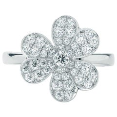 Van Cleef & Arpels Frivole Ring in White Gold with Diamonds VCARD31600
