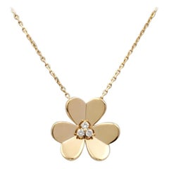 Van Cleef & Arpels 'Frivole' Yellow Gold and Diamond Necklace, Large Model