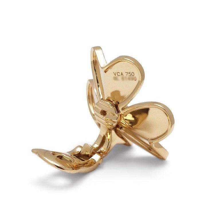 Van Cleef & Arpels 'Frivole' Yellow Gold Diamond Earrings, Large Model For Sale 1