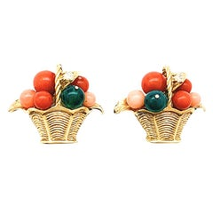 Van Cleef & Arpels Fruit Basket Earrings