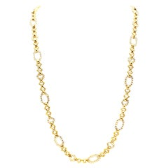 Van Cleef & Arpels Geometric Link Convertible Yellow Gold Diamond Necklace