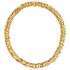 Van Cleef & Arpels, George L'Enfant Chevron Necklace in Solid 18 Karat Gold