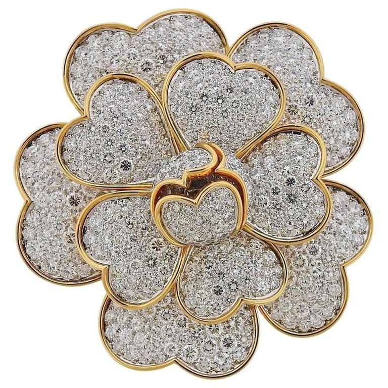 Van Cleef & Arpels Gold 17.95 Carat Diamond For Sale