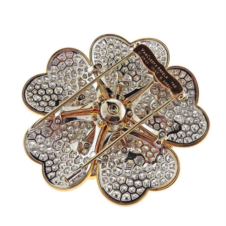 Van Cleef & Arpels Gold 17.95 Carat Diamond In Excellent Condition For Sale In New York, NY