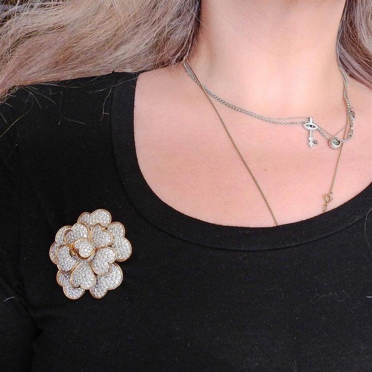 Women's Van Cleef & Arpels Gold 17.95 Carat Diamond For Sale