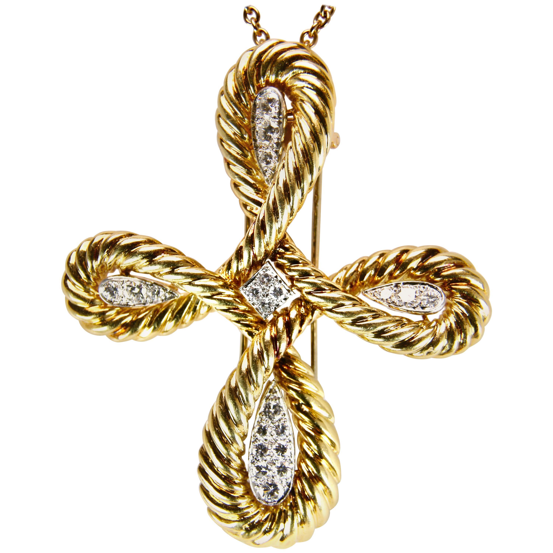 Van Cleef & Arpels Gold and Diamond Cross