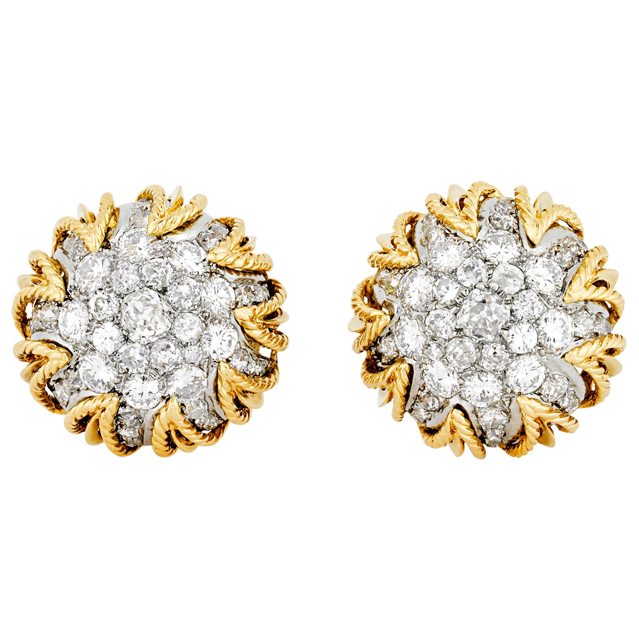 Van Cleef & Arpels Gold and Diamond Earrings