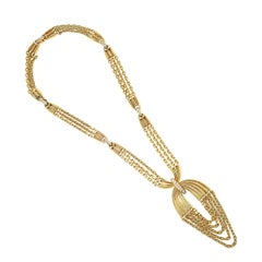 Van Cleef & Arpels Gold and Diamond Pendant Necklace