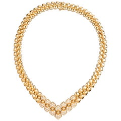 Van Cleef & Arpels Gold and Diamonds Fashion Necklace