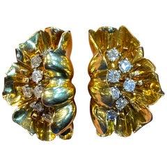 Van Cleef & Arpels Gold Diamond and Gold Earrings