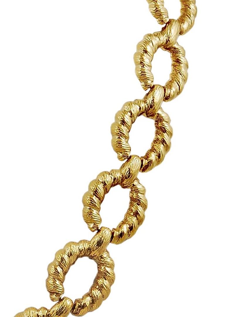 Women's or Men's Van Cleef & Arpels Gold Link Necklace