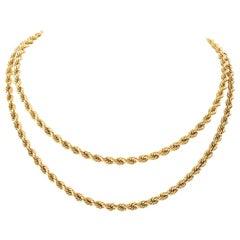 Van Cleef & Arpels Gold Rope Necklace
