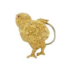 Van Cleef & Arpels Gold Ruby Chick Brooch