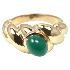Van Cleef & Arpels Green Chalcedony Yellow Gold Band Ring