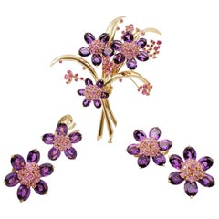 Van Cleef & Arpels 'Hawaii' Pink Sapphire and Amethyst Suite