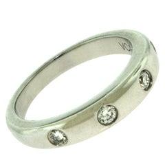 Van Cleef & Arpels Infini Etoile 4 Diamond Platinum Ring