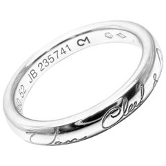 Van Cleef & Arpels Infini Signature Wedding Platinum Band Ring