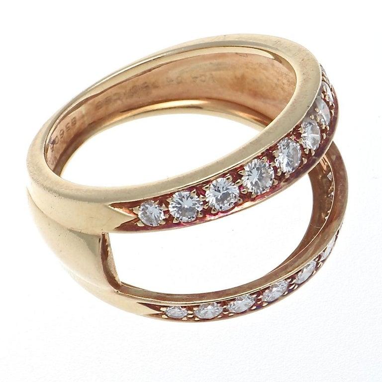 Women's Van Cleef & Arpels Interchangeable Gemstone Diamond Gold Ring For Sale