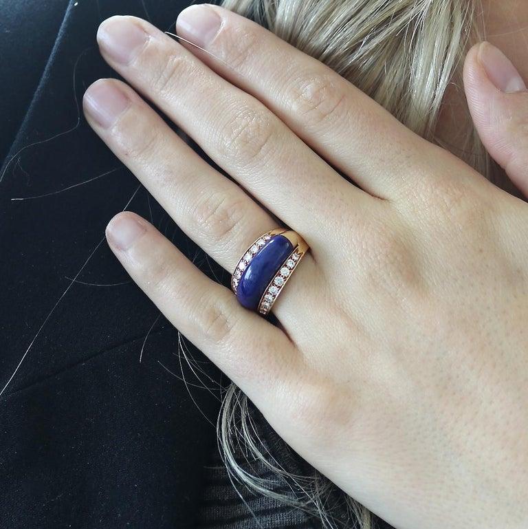 Van Cleef & Arpels Interchangeable Gemstone Diamond Gold Ring For Sale 1