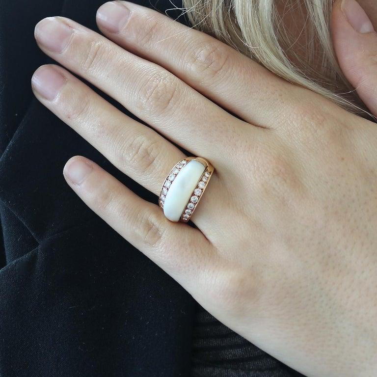 Van Cleef & Arpels Interchangeable Gemstone Diamond Gold Ring For Sale 2