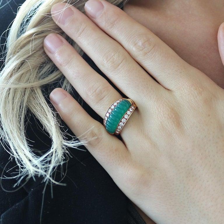 Van Cleef & Arpels Interchangeable Gemstone Diamond Gold Ring For Sale 3