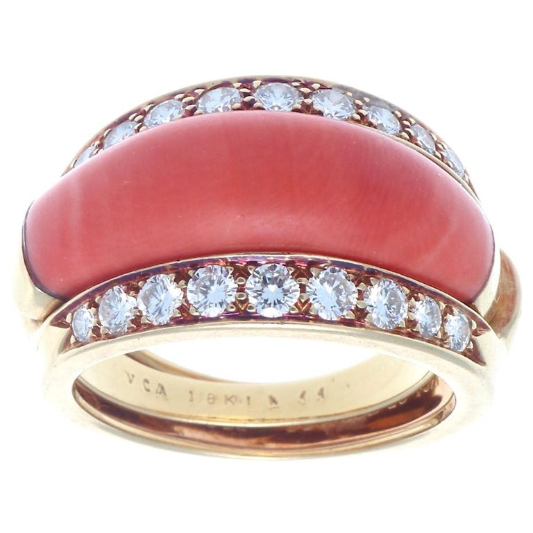 Van Cleef & Arpels Interchangeable Gemstone Diamond Gold Ring For Sale