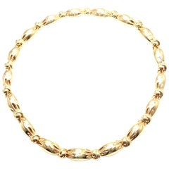 Van Cleef & Arpels Knotted Link Yellow Gold Choker Necklace