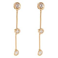 Van Cleef & Arpels La Pluie Diamond Drop Earrings in 18K Yellow Gold D VVS1 1
