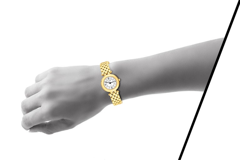 Van Cleef & Arpels Ladies Gold Watch In Good Condition For Sale In New York, NY