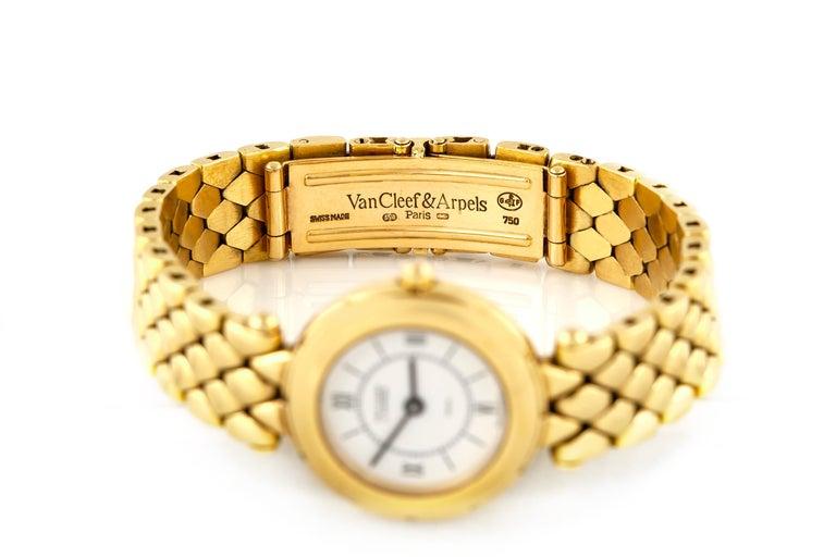 Van Cleef & Arpels Ladies Gold Watch For Sale 3