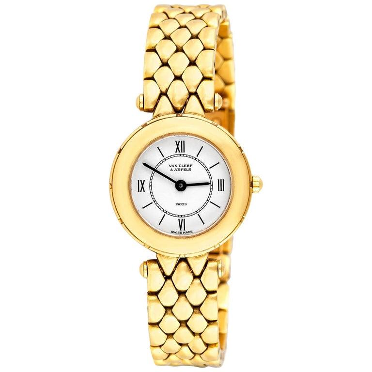 Van Cleef & Arpels Ladies Gold Watch For Sale