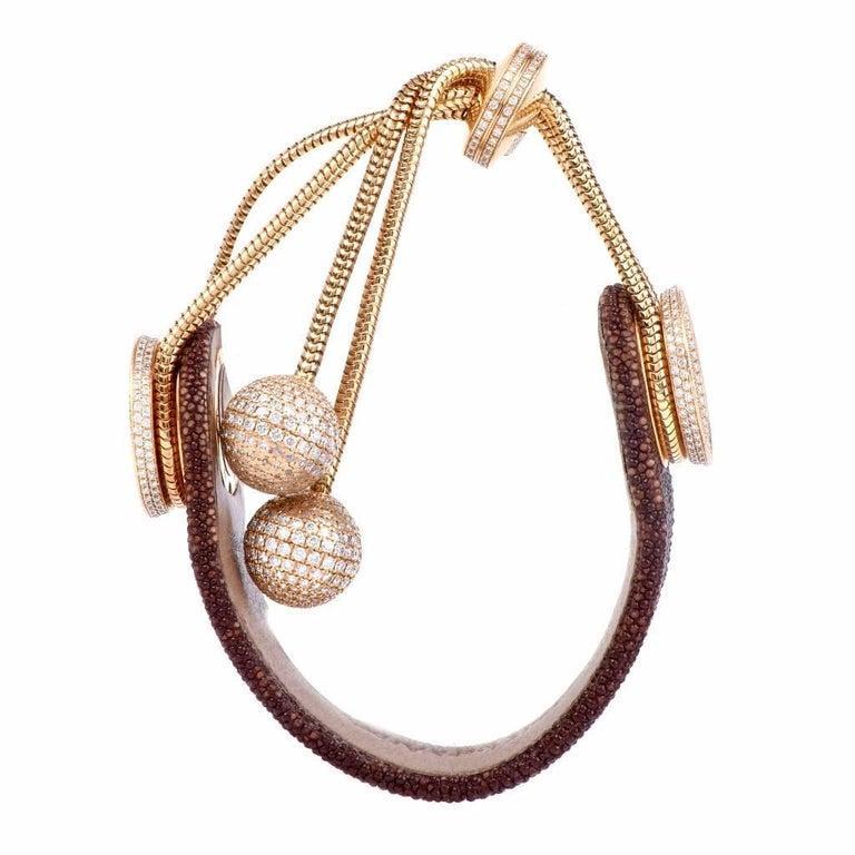 Van Cleef & Arpels Ladies Yellow Gold Diamond VCA Wristwatch For Sale 1