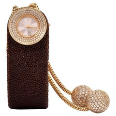 Van Cleef & Arpels Ladies Yellow Gold Diamond VCA Wristwatch