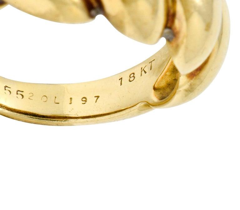 Van Cleef & Arpels Lapis Cabochon 18 Karat Gold Twisted Band Ring For Sale 4