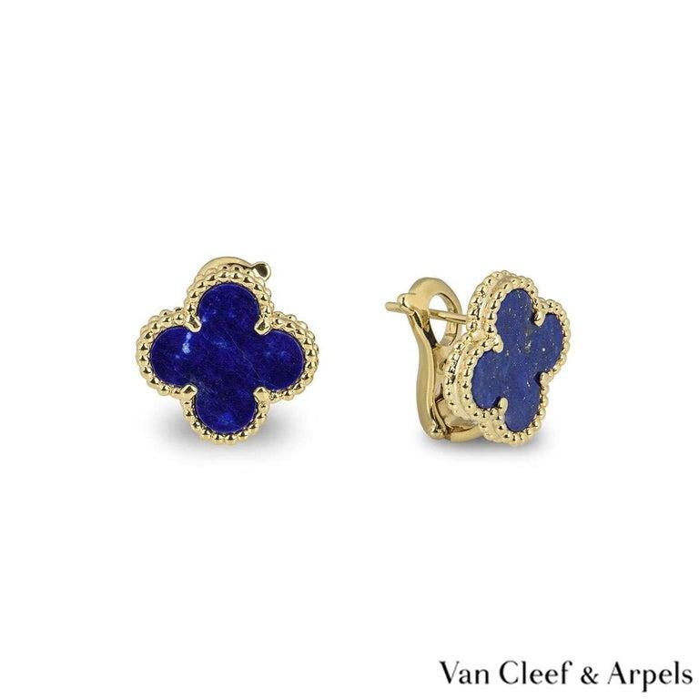 Mixed Cut Van Cleef & Arpels Lapis Lazuli SweetAlhambra Earrings