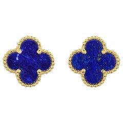 Van Cleef & Arpels Lapis Lazuli SweetAlhambra Earrings