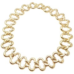 Van Cleef & Arpels Large 24 Motifs Alhambra Yellow Gold Choker Necklace