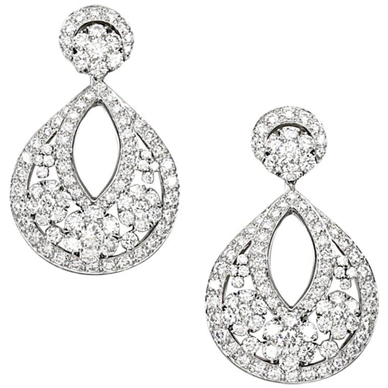 Classic High Jewelry Snowflake Earrings