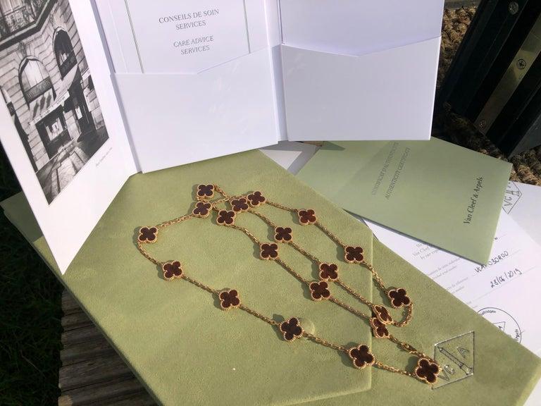 Van Cleef & Arpels Letterwood Gold Vintage Alhambra 20 Motif Necklace 1