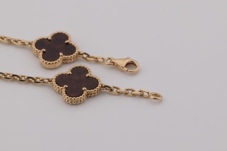 Women's or Men's Van Cleef & Arpels Letterwood Vintage Alhambra 20 Motif Necklace